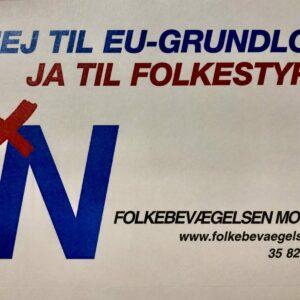 NEJ TIL EU-GRUNDLOV – JA TIL FOLKESTYRE