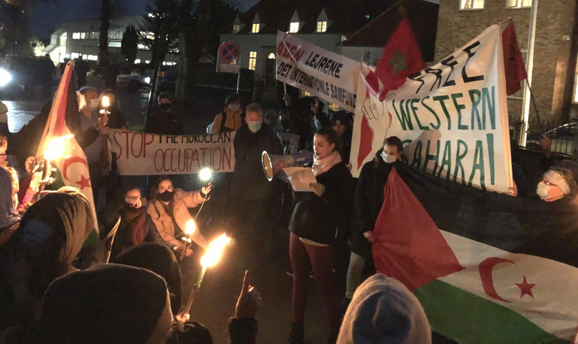 Susanna Taler Ved Demo. Foto: Peter Kenworthy/Global Aktion